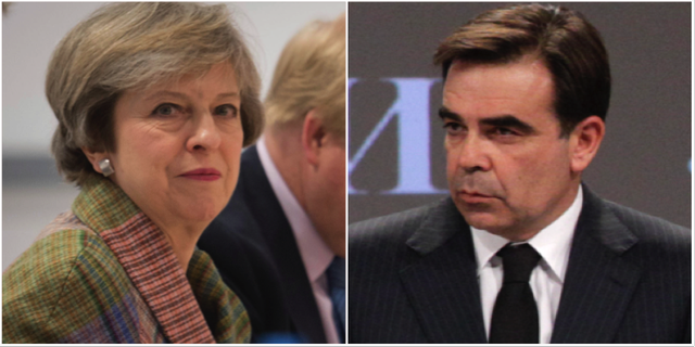 Theresa May, Margaritis Schinas TT.