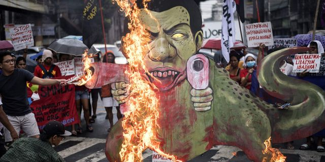 Demonstrationer mot Duterte i Manila NOEL CELIS / AFP