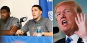 Liangelo Ball (mitten)/Donald Trump. TT