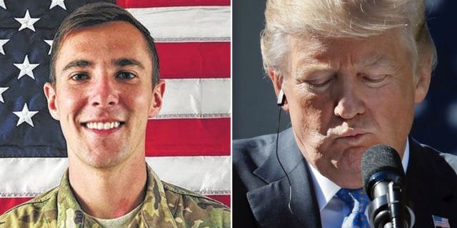 Dödade soldaten Dillon Baldridge. Donald Trump. Privat/TT