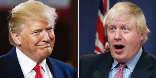 Donald Trump och Boris Johnson. TT