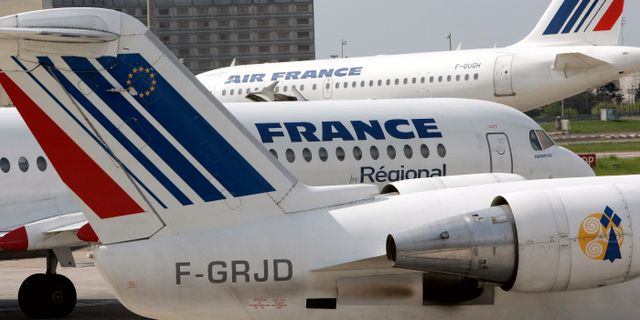 Air France-plan i Paris. Arkivbild. Christophe Ena / AP