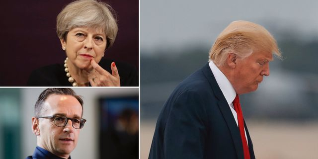 Theresa May och Heiko Maas. TT