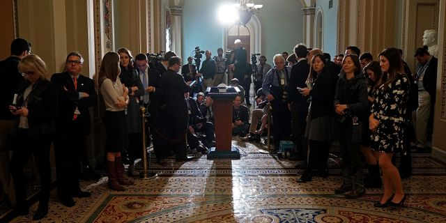 Pressträff i USA:s senat. CHIP SOMODEVILLA / GETTY IMAGES NORTH AMERICA