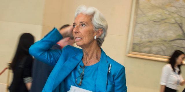 IMF:s Christine Lagarde FRED DUFOUR / AFP