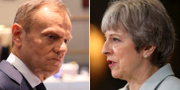 Donald Tusk/Theresa May. TT