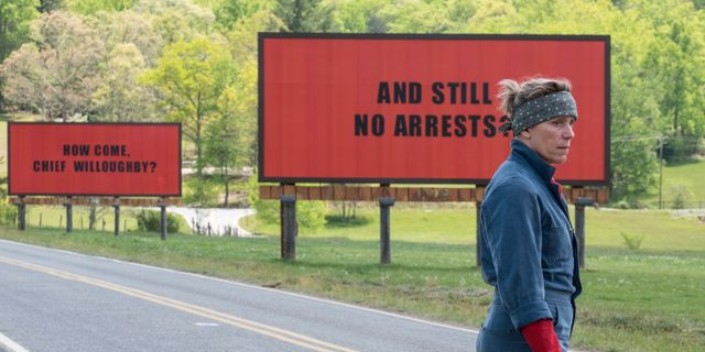 "McDormand i ""Three Billboards"" TT / NTB Scanpix"