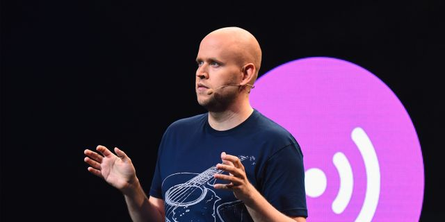 Daniel Ek, grundare av och vd på Spotify.  Michael Loccisano / Getty Images North America