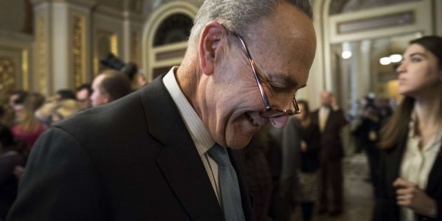 Minoritetsledaren Chuck Schumer. Drew Angerer / GETTY IMAGES NORTH AMERICA