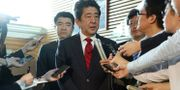 Japans premiärminister Shinzo Abe.  STR / JIJI PRESS