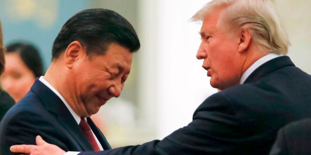 Donald Trump och Xi Jinping THOMAS PETER / POOL