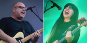 Black Francis och Paz Lenchantin i Pixies på Way Out West.