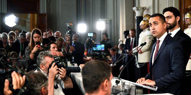 Femstjärnerörelsens partiledare Luigi Di Maio. VINCENZO PINTO / AFP