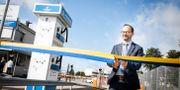 Infrastrukturminister Tomas Eneroth vid invigningen av Göteborgs hamn i augusti. Jonas Lindstedt/TT / TT NYHETSBYRÅN