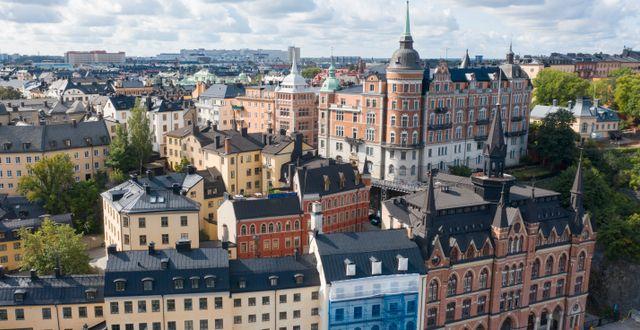 Flygbild över Södermalm. Fredrik Sandberg/TT / TT NYHETSBYRÅN