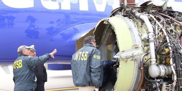Myndigheter utreder vad som hände med olycksplanet. HANDOUT / National Transportation Safety B