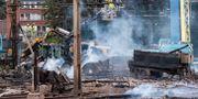 Bild från branden vid Hässleholm C Johan Nilsson/TT / TT NYHETSBYRÅN
