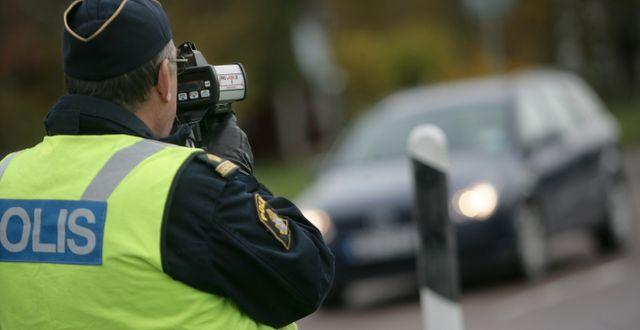 Hastighetskontroll. Fredrik Sandberg / TT / TT NYHETSBYRÅN