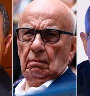 Bob Iger, Rupert Murdoch och Brian Roberts (arkivbilder) TT