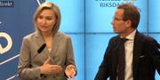 Ebba Busch Thor och Ulf Kristersson.  SVT