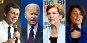 Pete Buttigieg, Joe Biden, Elizabeth Warren och Amy Klobuchar  TT