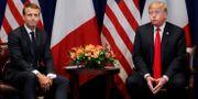 Macron och Trump. Carlos Barria / TT NYHETSBYRÅN