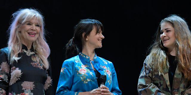 Skådespelarna Mia Benson, Melinda Kinnaman och Emma Broomé spelar alla Mary Page Marlowe Janerik Henriksson/TT / TT NYHETSBYRÅN