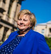 Erna Solberg.  Stian Lysberg Solum / TT NYHETSBYRÅN