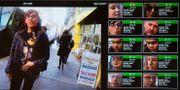Nvidia visar upp ansiktsigenkänningsteknik avsedd för myndigheter i november 2017. SAUL LOEB / AFP