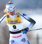 Frida Karlsson under helgens tävlingar. CH. KELEMEN / BILDBYRÅN