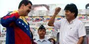 Maduro och Morales 2015. Fernando Llano / TT NYHETSBYRÅN