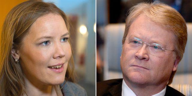 Emma Henriksson och Lars Adaktusson.  TT