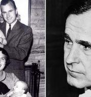 Bushfamiljen/George H W Bush då han var CIA-chef 1976.  TT