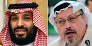 Mohammed bin Salman och Jamal Khashoggi. TT