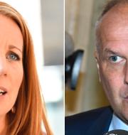 Annie Lööf (C) och Jonas Sjöstedt (V) TT