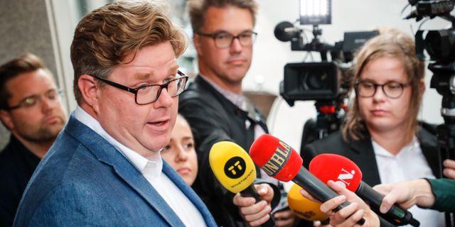 Gunnar Strömmer, Moderaternas partisekreterare.  Christine Olsson / TT NYHETSBYRÅN