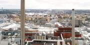 Kraftvärmeverket i Hjorthagen från ovan. Fredrik Sandberg/TT / TT NYHETSBYRÅN
