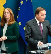 Annie Lööf och Stefan Löfven. Arkivbild. Pontus Lundahl/TT / TT NYHETSBYRÅN