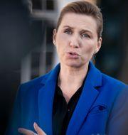 Statsministern Mette Fredriksen.  Liselotte Sabroe / TT NYHETSBYRÅN