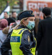 Propalestinsk demonstration mellan Möllevångstorget och Gustav Adolfs torg i Malmö. Johan Nilsson/TT / TT NYHETSBYRÅN