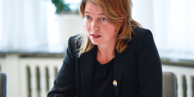 Malin Björk (V). Emil Langvad/TT / TT NYHETSBYRÅN