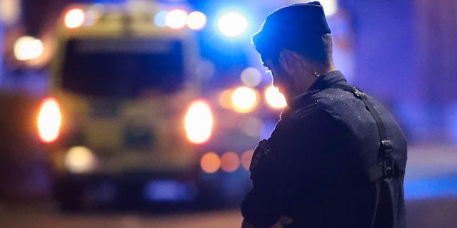 Polis och ambulans på brottsplatsen i september Claus Meyer/TT / TT NYHETSBYRÅN
