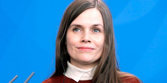 Katrin Jakobsdóttir. Arkivbild. Michael Sohn / TT NYHETSBYRÅN