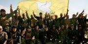 SDF-soldater, som tidigare backades upp av USA. Maya Alleruzzo / TT NYHETSBYRÅN