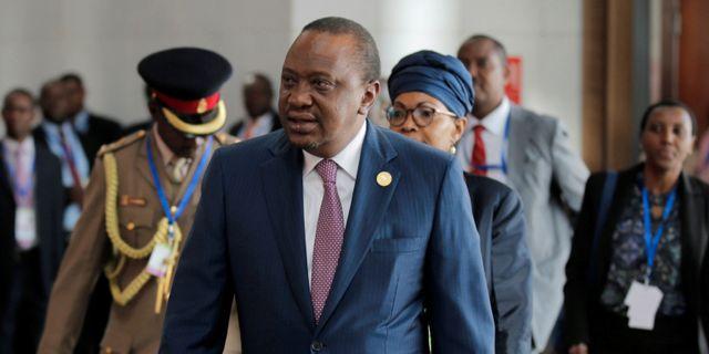Kenyas president Uhuru Kenyatta.  TIKSA NEGERI / TT NYHETSBYRÅN