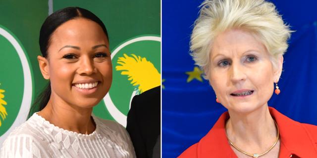 Alice Bah Kuhnke (MP) och Anna Maria Corazza Bildt (M). Arkivbilder. TT