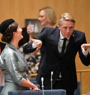 Språkrören Märta Stenevi och Per Bolund (MP). Henrik Montgomery/TT / TT NYHETSBYRÅN