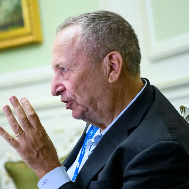 American economist, former Vice President of Development Economics and Chief Economist of the World Bank Lawrence Summers during a visit to Kyiv, Ukraine. 13-09-2018 Shutterstock
