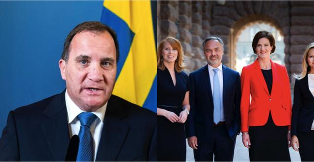 Stefan Löfven och alliansledarna har rykt ihop i regeringsfrågan. TT