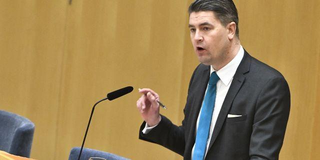 Sverigedemokraternas Oscar Sjöstedt. Claudio Bresciani/TT / TT NYHETSBYRÅN